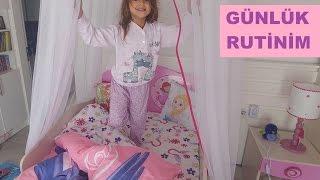 Elifin bir günlük rutini, eğlenceli çocuk videosu, My daily routine
