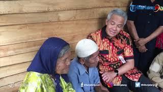 Kunjungan ke Pekalongan, Ganjar Pranowo Bercanda dengan Nenek yang Mengaku Pernah Nikah 7 Kali