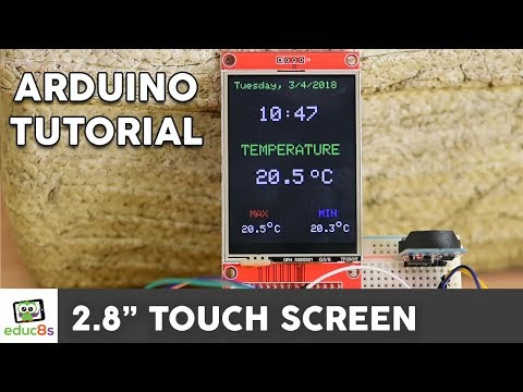 Arduino TFT LCD Touch Screen Tutorial (2.8