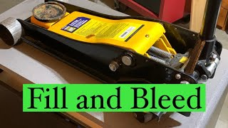 How to fill and bleed a floor jack