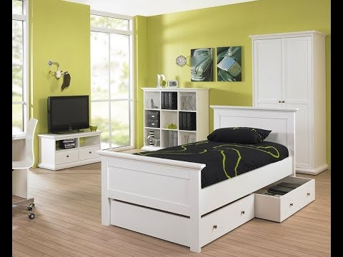 Paris Single Bed Frame Bedstead 90 x 200cm in White Bedroom Furniture