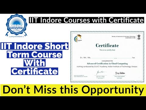 IIT INDORE Online Courses With Certificate | Short Term Course ...