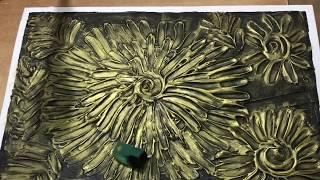 164.  Текстурная картина из шпаклевки. Первая проба.