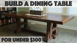 DIY Dining Table: Pottery Barn Inspired Farmhouse Table