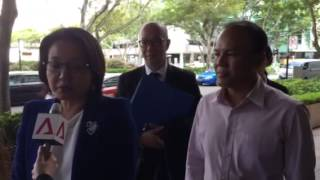 Sylvia Lim arrives at the High Court
