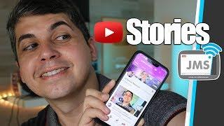 COMO FAZER Historias no YouTube Stories - CanalJMS