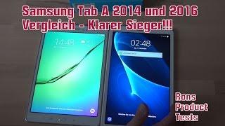Samsung Galaxy Tab A Vergleich zu Tab A 2016