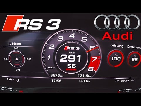 2018 Audi RS3 (0-290km/h) TOP SPEED, Acceleration TEST✔
