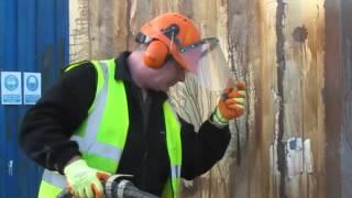 Elliot Hire Group Using Torbo Dustless Blasting On A Welfare Unit
