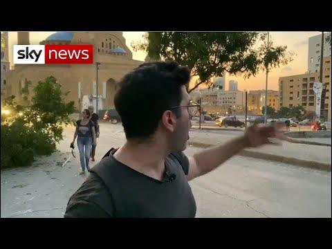 Sky News bureau destroyed in Beirut blast