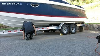 Repositioning a 25' Boat on its trailer while in the driveway