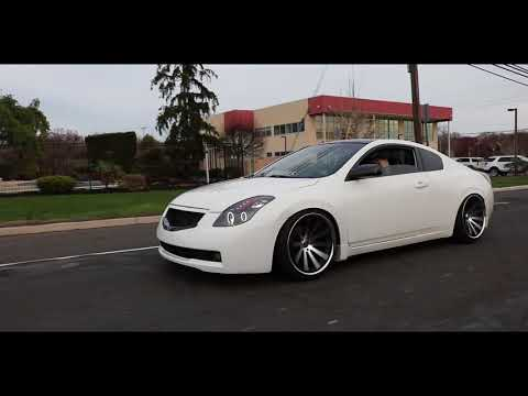 Audra's Nissan Altima Coupe Slammed on Rohana Wheels