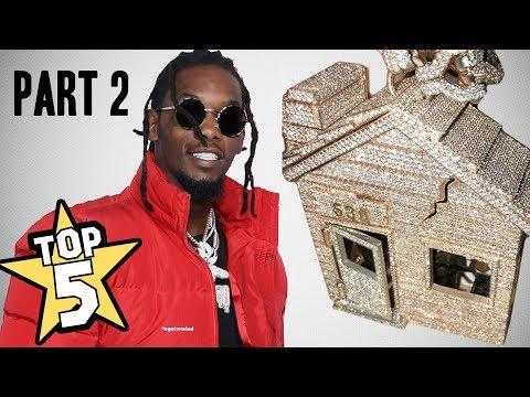 TOP 5 | RAPPER CHAINS OF 2018 PART 2 ( Offset, Kodak Black, Trippie Redd )