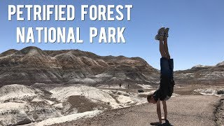 A Walk Through The PAINTED DESERT And BLUE MESA TRAIL - Petrified Forest National Park ARIZONA