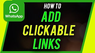 How to Add CLICKABLE LINK in WhatsApp Status