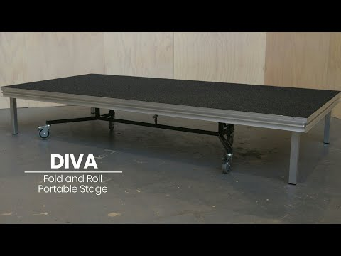 How to assemble DIVA Fold & Roll Portable Stage by Select Staging Concepts