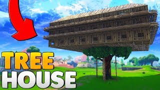 BUILDING A WORLD RECORD TREE HOUSE | Fortnite Battle Royale