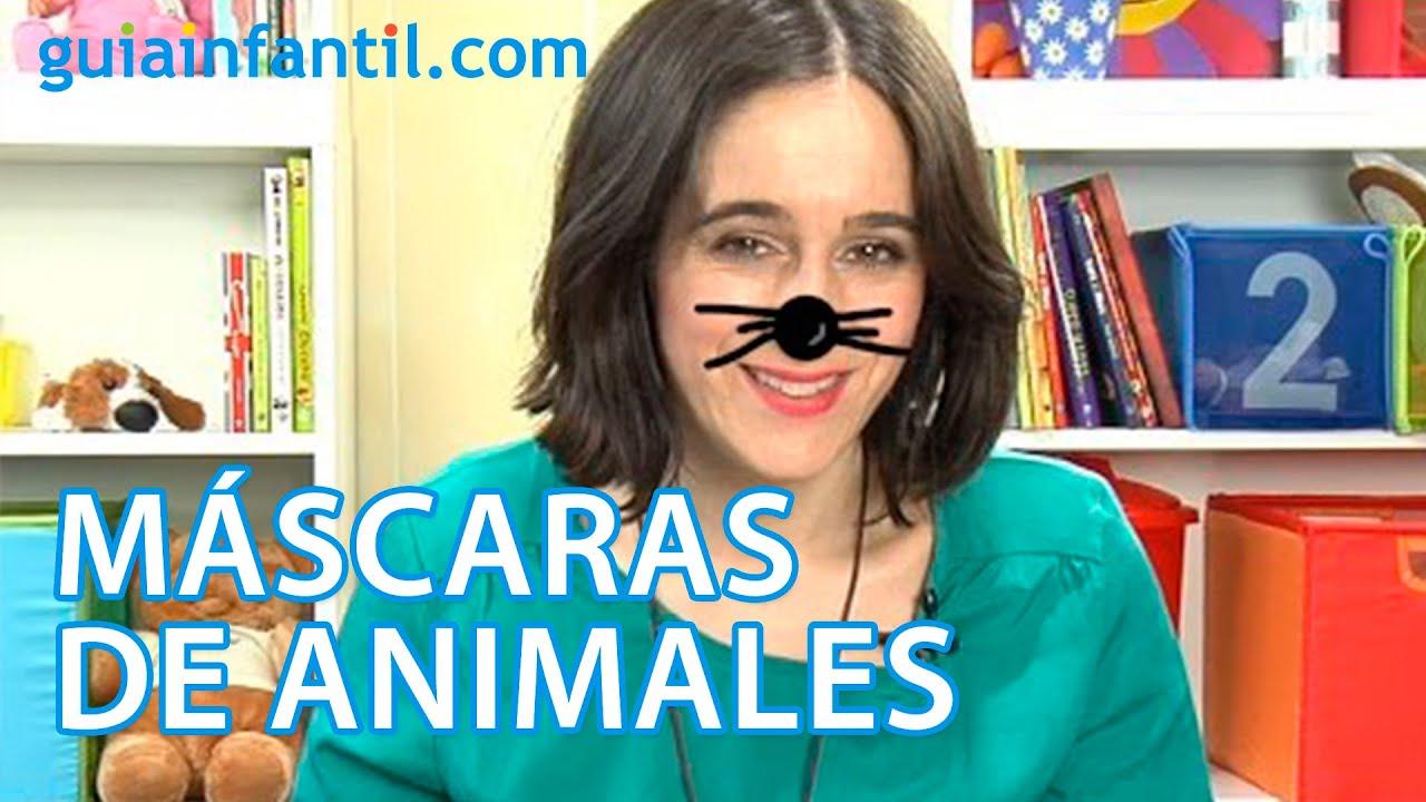 Cómo hacer máscaras de animales con hueveras para los niños