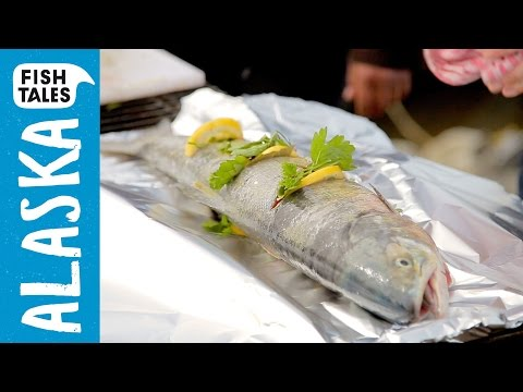 Whole BBQ Yukon SALMON Recipe | Bart van Olphen