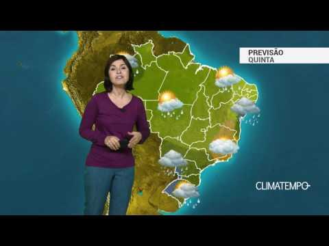 Previsão completa para todo o Brasil nesta quinta feira