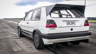 950HP VW GOLF 2 VR6 Turbo (fwd) 0-300 Acceleration! FASTEST FWD Golf in the WORLD!