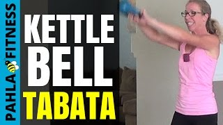 Booty-Kickin' KETTLEBELL TABATA | 30 Minute CARDIO TONING Home Workout with Warm Up and Cool Down by Pahla Bowers