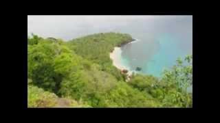 preview picture of video 'Banana Beach - Principe Island'