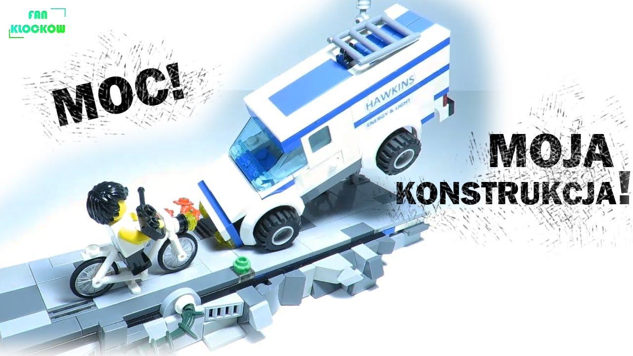 LEGO Stranger Things MOC | Eleven wyrzuca w powietrze samochód Hawkins Lab!