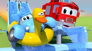 Patrol Policyjny - Zjeżdżalnia Wodna - Miasto Samochodów 🚓 🚒 Bajki Dla Dzieci