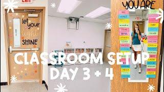 CLASSROOM SETUP DAY 3 + 4 | VLOG | First Year 5th Grade Teacher