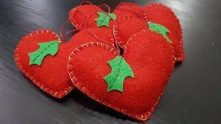 DIY Felt Heart Ornament