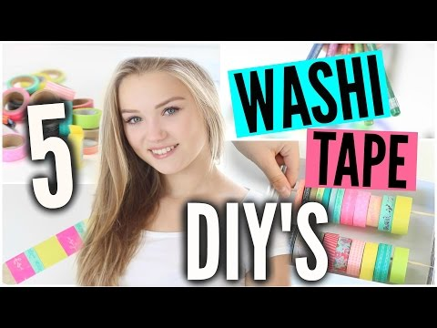 WAS MAN MIT WASHI TAPE ALLES MACHEN KANN! | Julia Beautx