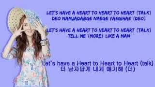 4Minute ( 포미닛) Heart To Heart Lyrics
