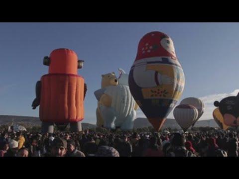 El Cristo de Corcovado y Van Gogh volaron en Festival Internacional del Globo