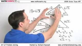 MATHCOUNTS Mini #8 - Geometry/Auxiliary Lines & Special Right Triangles