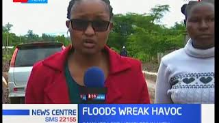 Families left homeless in Kieni due to floods