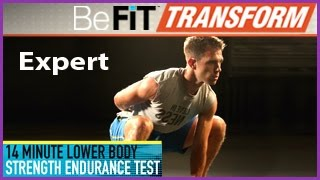 BeFiT Transform: 14 Min Lower-Body Strength Endurance Test- Expert Level by BeFiT