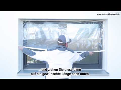 Abdeckfolie, Malerplane Zitra ®-Fol: Fenster abdecken und streichen wie die Profis