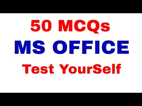 Top 50 MCQ Based on MS- OFFICE | Test your Knowledge | Computer Awareness [ In Hindi] Part 9