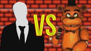 5 Ночей с Фредди VS Слендермен | СУПЕР РЭП БИТВА | Five Nights At Freddy's FNAF Против Slender man