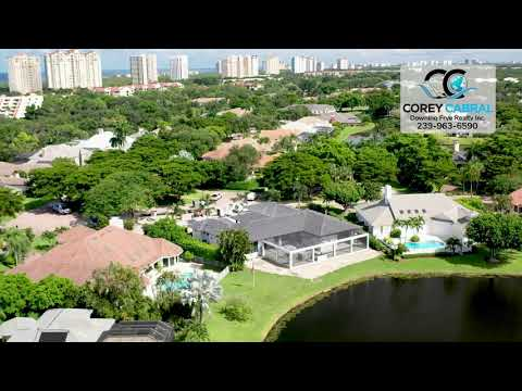 Pelican Bay Georgetown Naples Florida 360 degree video fly over