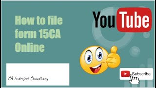 Income Tax Form || Form 15CA Online ||