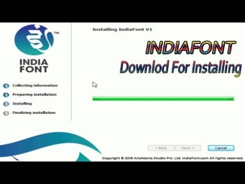 How to Install IndiaFont V1 Calligraphy Software - смотреть онлайн