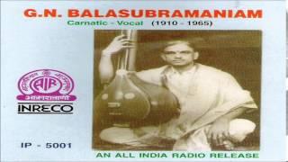 G.N.BALASUBRAMANIAM   CARNATIC VOCAL (1910 -1965)   JUKEBOX