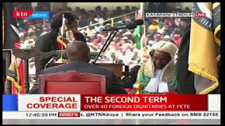 Deputy William Ruto appends his signature during the inauguration ceremony