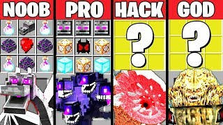 Minecraft Battle: SUPER SECRET BOSS CRAFTING CHALLENGE - NOOB vs PRO vs HACKER vs GOD ~ Animation