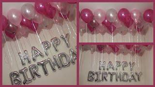 Birthday Decorations🎊🎉|افكار زينه عيد ميلادبالبالونات