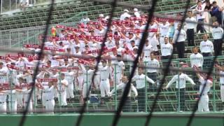 2014/7/24@しまなみ球場 広陵高校の応援風景 チアソング