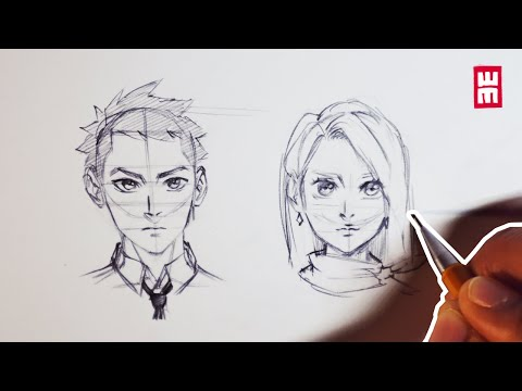 How to Draw Faces for Beginners   Anime Manga Drawing Tutorial