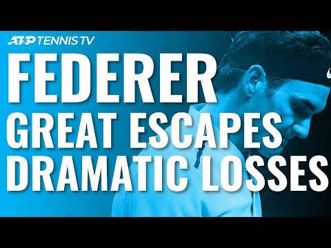 Roger Federer: Greatest Escapes /u0026 Most Dramatic ATP Losses